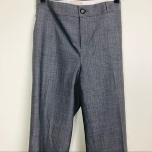 BANANA REPUBLIC grey straight leg slacks